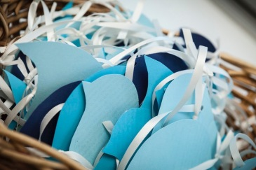 Guest Book Birds Ribbon Blue DIY Craft Reception Wedding