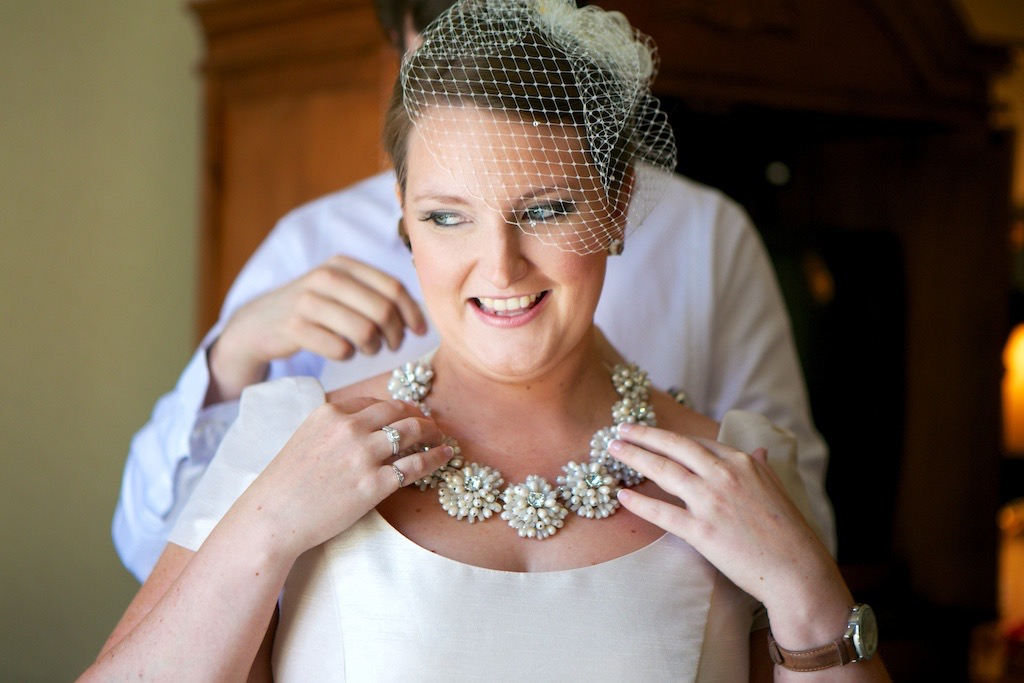 Bride Birdcage Veil Kate Spade Necklace New Orleans Wedding www.eauclairephotographics.com