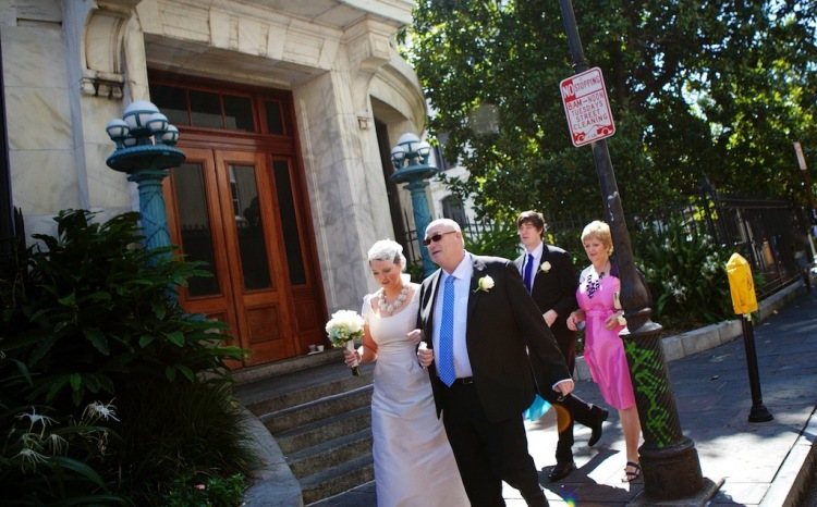 Bride Father Mother Brother French Quarter New Orleans Wedding www.eauclairephotographics.com