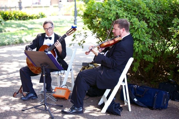 Jackson Square Outdoor Ceremony Instrumental Music New Orleans Wedding www.eauclairephotographics.com
