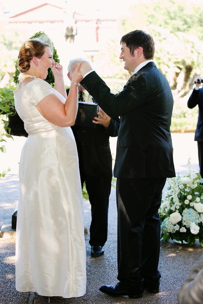 New Orleans Wedding Jackson Square Outdoor Ceremony Bride Groom Celebrations www.eauclairephotographics.com