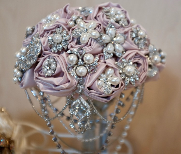 Vintage Bride Wedding Fair Bejewelled Bridal Bouquet Flowers Bling Pearls Wedding Bride www.bejewelledbridal.com.au